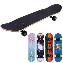 Complete Skate Boards Adult Teens Girls Boys Maple Skateboar