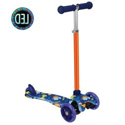 Dinosaur Print Kick Scooter for Boys  Girls 3 Wheel Scooter,