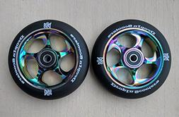 DIS 110mm Black Slicks Metal Core Scooter Wheels - 2 Wheels