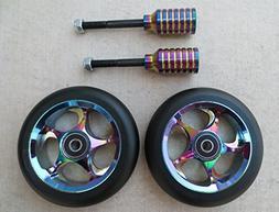 DIS 110mm Black Slicks Package - 2 Wheels and 2 Pegs