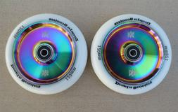 DIS 120mm Hollow Slicks - 2 Scooter wheels with ABEC-11 Bear