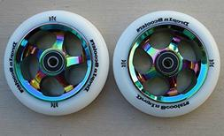 DIS 110mm Oil Slicks Metal Core Scooter Wheels w/ABEC-11 Bea