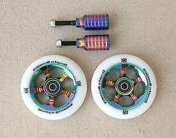 DIS 100mm Oil Slicks Package - 2 Wheels and 2 Pegs