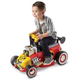 Disney Mickey Boys' 6V Battery-Powered Ride-On Quad by Huf