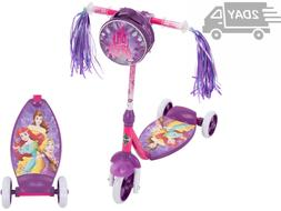 Disney Princess Girls 3-Wheel Tri-Scooter with bag for Kids