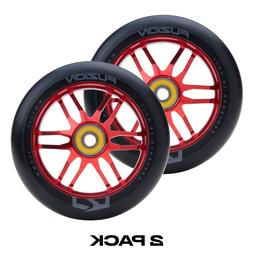 Fuzion Dose 110mm Pro Scooter Wheels Black & Red