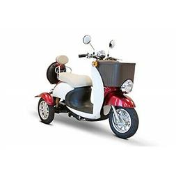 E-Wheels - EW-11 Sport Euro Type Scooter - 3-Wheel - Red/Whi