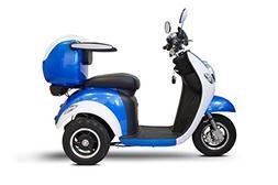 E-Wheels - EW-37 Vintage Scooter - 3-Wheel - Blue