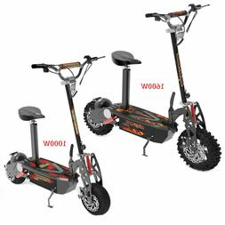 Electric Scooter Brushless 1600W or 1000W 36V Long-Range off