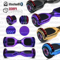 Electric Smart Self Balancing Scooter LED Lights Hoverboard