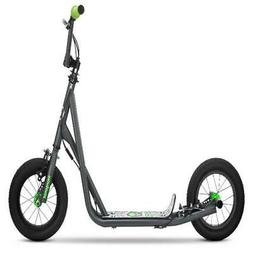 Mongoose Expo Scooter, 12-inch wheels, ages 6 and up, grey