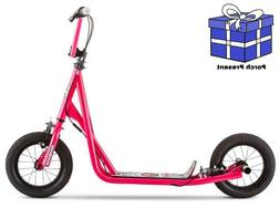 Mongoose Expo Scooter, 12-inch wheels, ages 6 and up, pink,