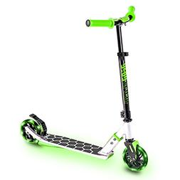 Neon Flash Kick Scooter with LED lights - Green