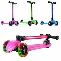 Playshion Foldable 3 Wheels Kick Scooter for
