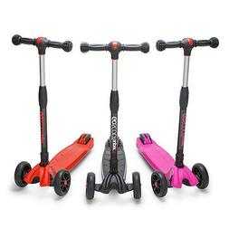 Foldable GoScoot Super 3-Wheel Kick Scooter for Kids by New
