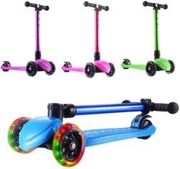 Playshion Foldable Kick Scooter for Kids with Adjustable Hei
