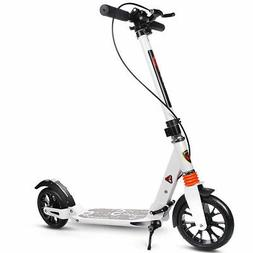 Folding Aluminum 2 Wheel Adult Kick Scooter Adjustable Heigh