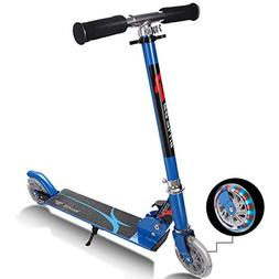 Goplus Folding Kick Scooter for Kids Deluxe Aluminum 2 Wheel