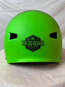 Madd Gear Action Sports Head Gear Lime Green/Black Matte Fin