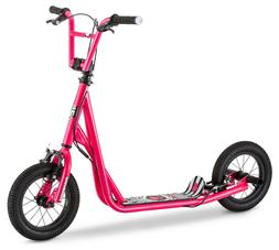 GIRLS SCOOTER, Mongoose Pink - Kids 12 Inch Offroad Air Tire