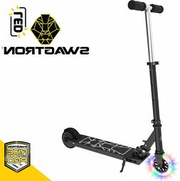 Swagtron Glide SK3 Foldable Electric Scooter w/LED Wheel Kic
