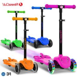 Height Adjustable Kids Kick Scooter 3 Wheels Outdoor Sports