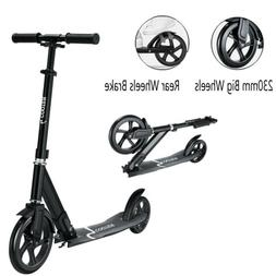 Hight-Adjustable Folding Kick Scooter Big Wheels Scooter for