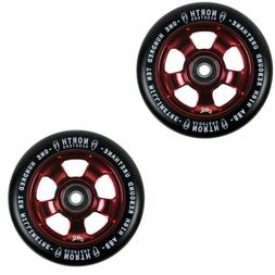 North Scooters HQ Black 88A Scooter Wheels Wine Red 110mm Pa