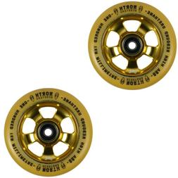 North Scooters HQ Gum 88A Scooter Wheels Gold 110mm Pair of