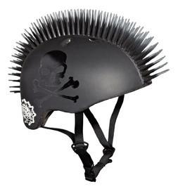 Krash Jolly Roger Mohawk Helmet, Youth 8+ Years, Black