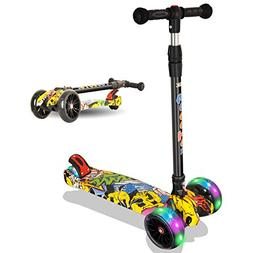 Rasse Kick Scooter for Kids - 3 Wheels Scooter for Boys and