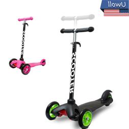 Kick Scooter Deluxe 3 Wheels Adjustable Height Glider For Ki