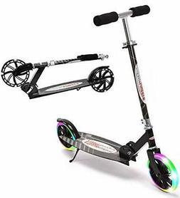 "ChromeWheels Kick Scooter, Deluxe 8"" Large 2 Light Up Wheels"