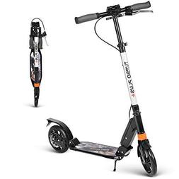 besrey Kick Scooter Dual Brake, Scooter with Dual Shock Abso