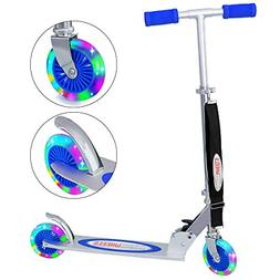 ChromeWheels Kick Scooter for Kids, Deluxe 4 Adjustable Heig