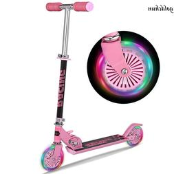Kick Scooter for Kids Deluxe Aluminum 2 Wheels Glider with L
