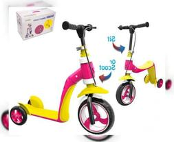 Verkstar Kick Scooter for Kids Toddlers Girls Boys, 2 in 1 w