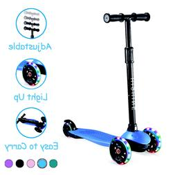Kick Scooter for Kids with 3 Light Up Wheels Adjustable Heig