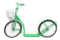 Kick Scooter Model 2060  Amish Made in USA - Neon Green