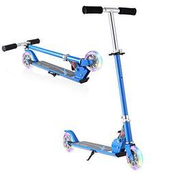 Hikole Kids Kick Scooter Two-Wheeled Foldable Adjustable-Hei