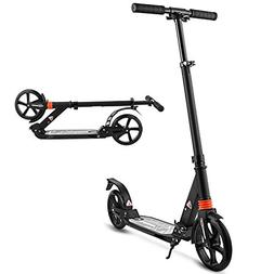 Hikole Adult Kick Scooter - Dual Suspension - Folds Down - A