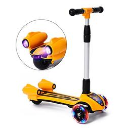 MammyGol Kick Scooters for Kids,Adjustable Handle Folding LE