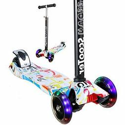 Kick Scooters EEDAN For Kids 3 Wheel T-bar Adjustable Height