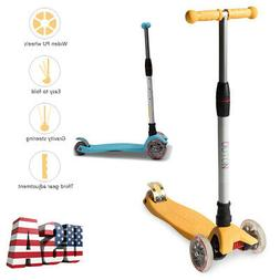 Kick Scooters With 3 Wheel for Kids Girls Boys Adjustable He