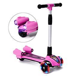 MammyGol Kick Scooters for Kids,Adjustable Handle Folding LE