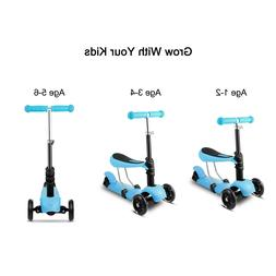 Kick Scooter for Kids 2+ Age Boys & Girls with 3 LED Wheel G