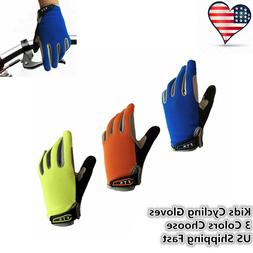 Kids Bicycle Gloves Full Finger Easy Put On And Off Boys Gir