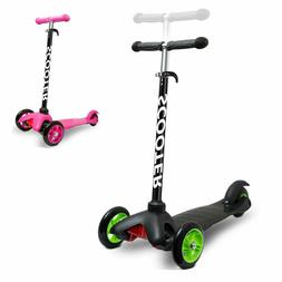 For Kids Scooter Deluxe 3 Wheel Glider with Kick n Go Lean 2