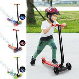 Kids Scooter Deluxe Adjustable Kick Scooters Girls Boys 3 LE
