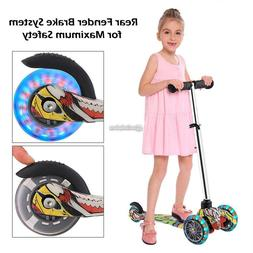 Kids Scooter Deluxe for Age 3-13 Adjustable Kick Scooter Gir